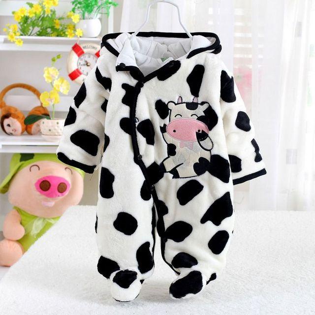 2015 Inverno Romper Do Bebê Recém-nascido de Algodão-Acolchoado Infantil Roupas de Bebê Meninas Meninos Rompers Jumpersuit Infantil
