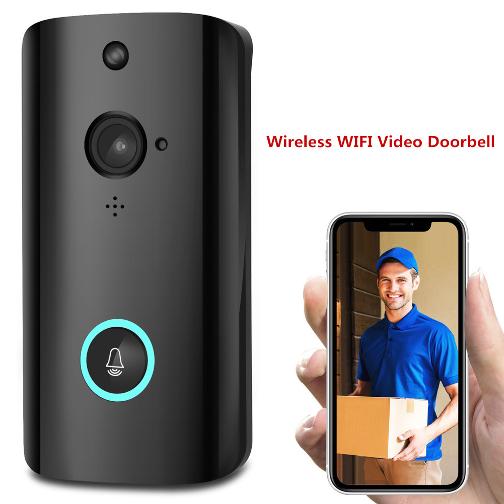 WiFi Wireless Video Doorbell Two-Way Talk Smart Door Bell Security Camera HD Wireless Video Doorbell For Android IOS APP 30A28