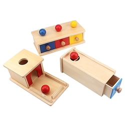 Brinquedos do bebê montessori imbucare caixa com brinquedo de bola para crianças brinquedos educativos de madeira caixa de produtos de madeira crianças brinquedos sensoriais