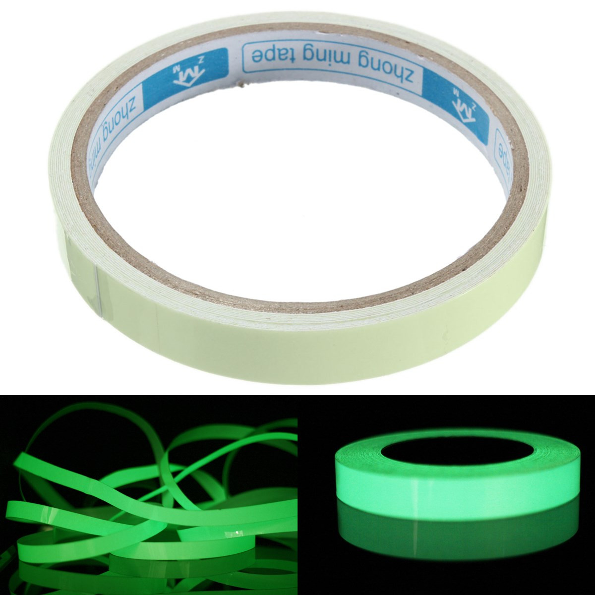 3M 10/15/20mm Luminous Tape Night Vision Glow In Dark Self-adhesive Warning Tape Safety Security Home Decoration Tapes