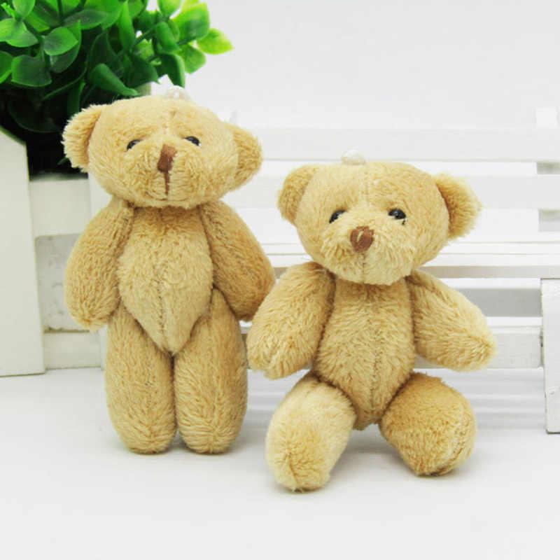 100 шт/лот Kawaii небольшое соединение плюшевых мишек 8 см/3,2 ''игрушка плюшевый мишка маленький медведь Тэд плюшевые игрушки коричневые подарки 02