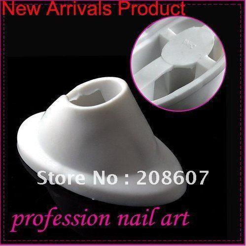 Freeshipping New Arrivals Product Polish Stand Tool White Rubber Bottle Holder Nail Art Polish 10pcs/lot