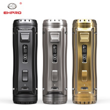Ehpro Cold Steel 100 Mod Metal Vape 120W TC Box MOD Compatible with 21700/20700/18650 Batteries Electronic Cigarette for Vapers wismec reuleaux rx2 21700 230w tc mod 8000mah with dual 21700 batteries battery balance charge system upgradeable firmware vape