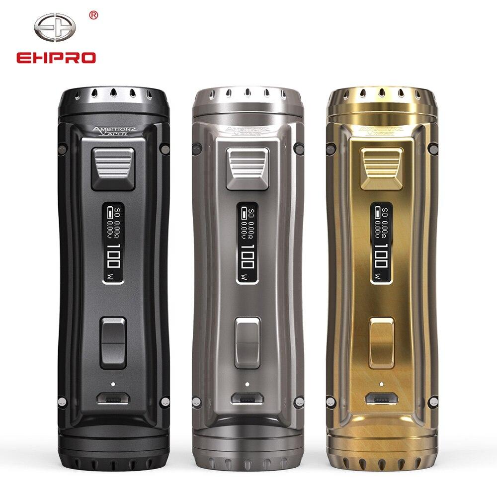 Ehpro acier froid 100 Mod métal Vape 120W TC boîte MOD Compatible avec 21700/20700/18650 Batteries Cigarette électronique pour vapoteurs