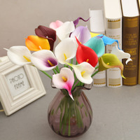 10pcs/lot Artificial decorative flowers PU Real Touch 16COLORS Mini Calla Lily for Wedding HOME party table decoration