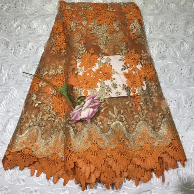 Embroidery African Lace Fabric With Rhinestones Nigerian Swiss Voile Laces In Switzerland Tulle Lace Fabrics For Sewing Dress