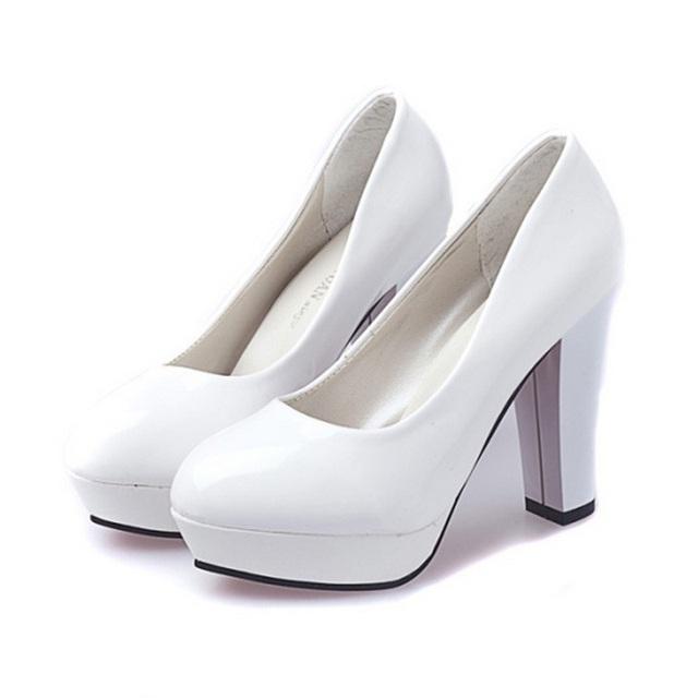 Nuevo 2017 venta Caliente de las mujeres zapatos de plataforma de tacón alto bombas de las mujeres zapatos de trabajo zapatos casuales solo zapato de moda nupcial B199