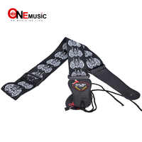 Rock you  Totem Black Strap Adjustable Acoustic Guitar Strap bass WITH PICK HOLDER