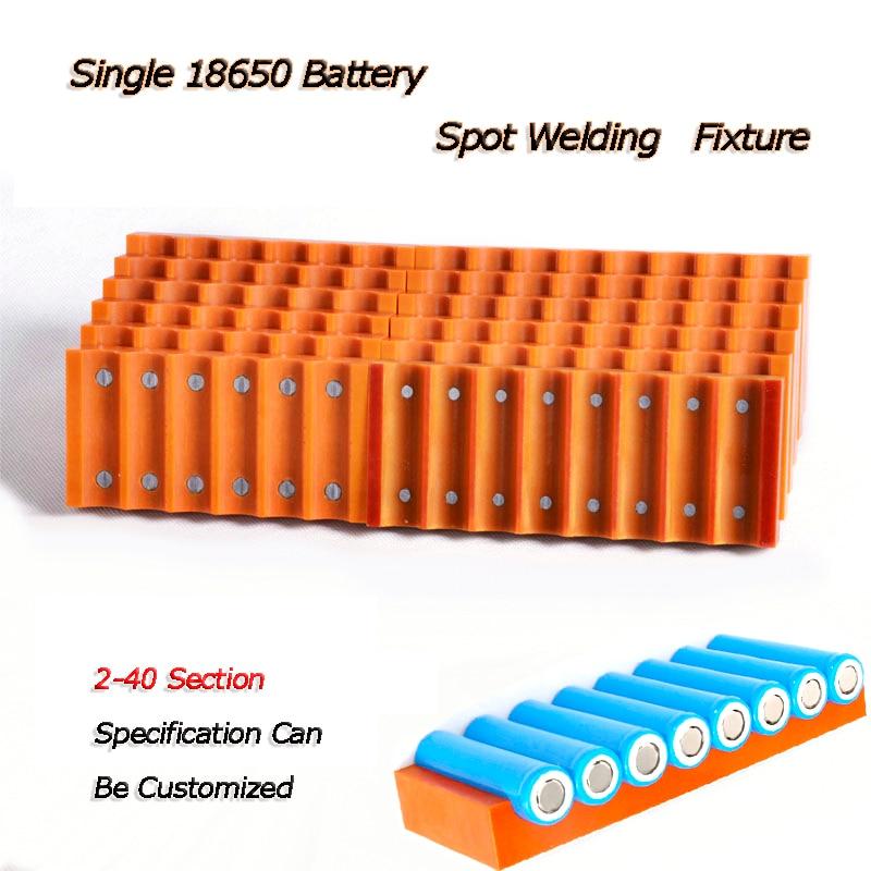 18650 Single Row Battery Fixture Strong Magnetic Spot Welding Machine Welding Fixture For 18650 Lithium Battery Welding Fixture