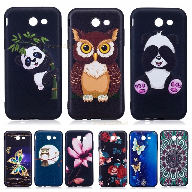 buy popular a1c5d c587d US $2.99 7% OFF|Cover Case for Samsung Galaxy J3 2017 LTE J327 J327A J327P  Black TPU Silicone Case Funda Coque for Galaxy J3 Emerge SM J327 Bags-in ...