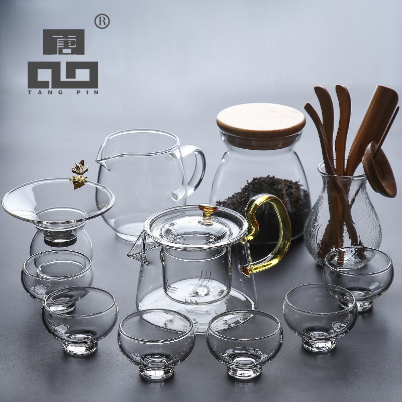 TANGPIN heat resistant glass tea sets teapots gaiwan teacups glass kung fu tea sets