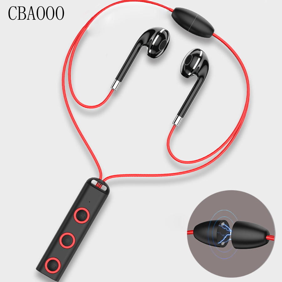 CBAOOO Stereo Bluetooth Earphone Sports Wireless Headset Magnetic in ear Bass Blutooth Headphones With Mic For Mobile Phone