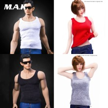 1/6 Scale Female Sexy Accessory figure Costume Series MM02 Round neck sleeveless vest Male and female Four colors
