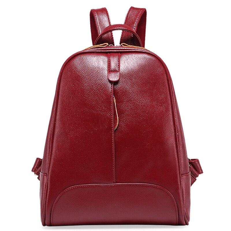 Designe Women's Backpacks Genuine Leather Female Backpack Women Schoolbag For Girls Large Capacity Shoulder Travel Mochila Bolsa