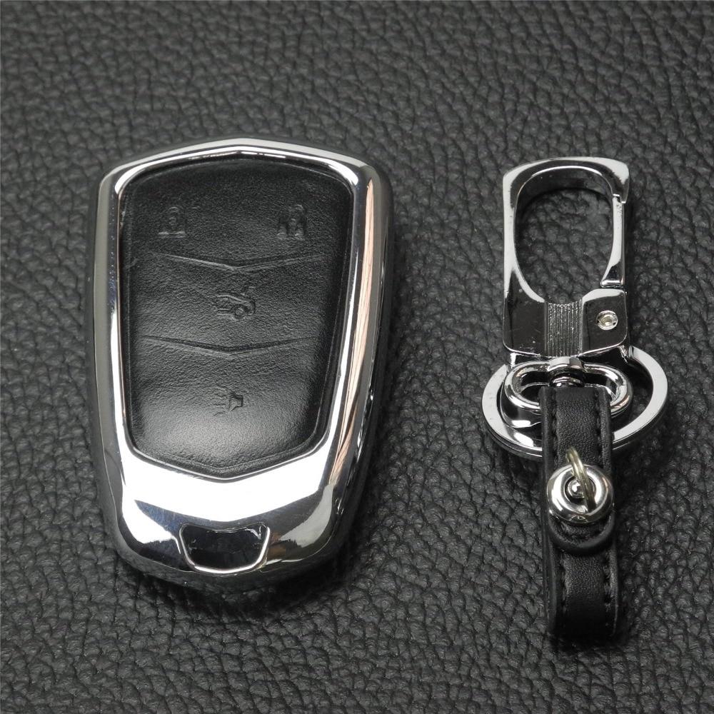 jingyuqin Uus Remote 4/5 nupud Autode võtmekaane ümbris Cadillac - Auto salongi tarvikud - Foto 2