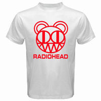 New Radiohead Rock Band Red Logo Men S White T Shirt Size S 3XL