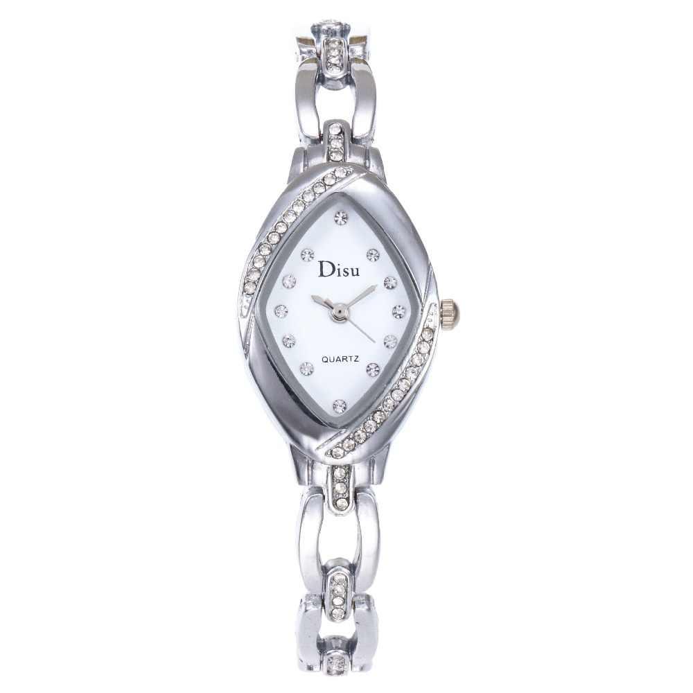 חדש האופנה ריינסטון נשים שעונים קלאסי צמיד שעוני יד גבירותיי מגמה מזדמן באיכות גבוהה קוורץ שעון Relogio Feminino