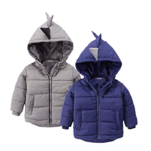 2019 Winter Girls Jacket For Boys Jacket Kids Warm Outwear Coat Boys Dinosaur Toddler Coats Children Hooded Clothing for boys
