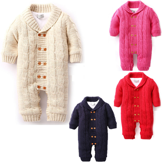 7eeb0eb1c Thick Warm Infant Baby Rompers Winter Clothes Newborn Baby Boy Girl ...