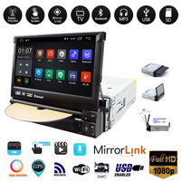 Universal 1 din Android 8.1 Car DVD Player Auto Retractable Touch Screen Autoradio Car Multimedia Player Radio Stereo GPS Navi