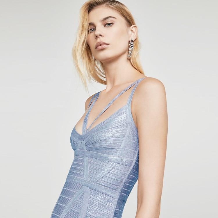 Robes Moulante 2018 Encolure Vestdios Ciel 15 Bretelles Femme or Parti Rd Élégant Maxi Noir Bandage Spaghetti Robe Sexy pu qwt1xtHfA