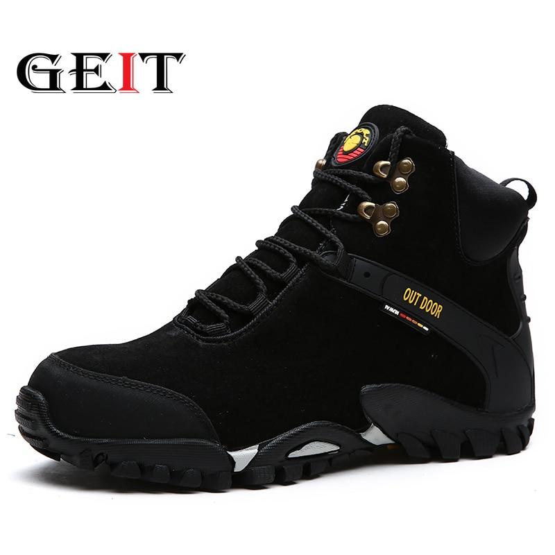 Nouveaux hommes bottes d'hiver avec fourrure 2019 bottes de neige chaudes hommes bottes d'hiver chaussures de travail chaussures pour hommes mode en caoutchouc cheville chaussures 38-47