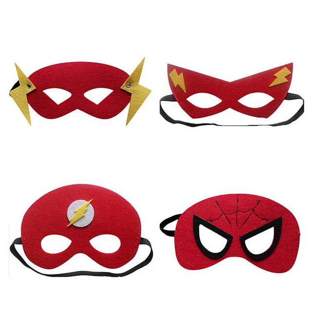 30 Colors Kids Super Hero Cosplay Mask Kids Birthday Party Anime and Movie Cosplay Blinds Halloween Show Dress Up Costume Mask 4