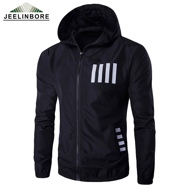 2016 new spring autumn casual mens jacket letter printed sportswear breathable waterproof thin windbreaker hooded jacket