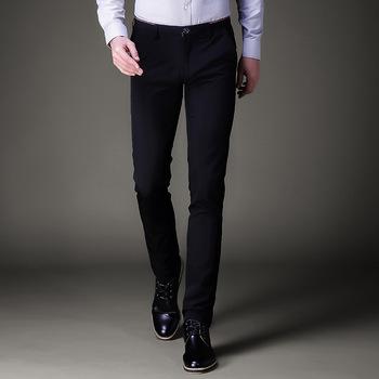 Jbersee mężczyzn spodnie wizytowe Formalne spodnie Slim Fit garnitur spodnie biuro biznes na co dzień ślubu męskie sukienka spodnie perfumy masculino tanie i dobre opinie Mieszkanie Octan Smart Casual Zipper fly XK030