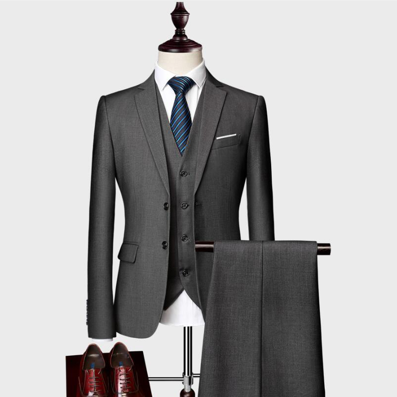 2019 Groom Wear New Fashion Wedding Suits  Mens Casual Business 3 Piece Suit Jacket Coat Trousers
