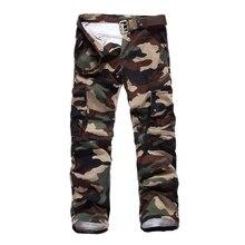 Freies Verschiffen Mens Cargo Pants 2017 Spring & Autumn Fashion camouflage Mehrfach hosen Casual Hosen plus größe M-XXXL