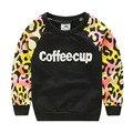 Весенние / леопарда свободного покроя анти-пот девушки футболки для детская одежда ребенок вершины тройники 2016 T1 / 4592 DTAE
