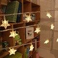 Diseño de la estrella de Hadas luces de la secuencia del LED Luces de colores Estrella de Cinco puntas LLEVÓ luces de la secuencia para La Boda Del Partido de Navidad den Patio IY310111