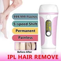 3 in 1 Permanent Laser Hair Removal Epilator Women Threading Pulsed Light Machine Device Female Face Depilatory Body Depilation