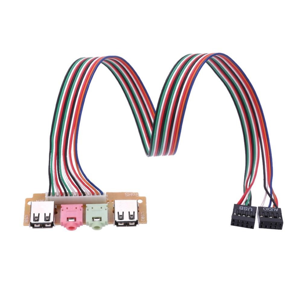 Speaker NEW Dual Front USB MIC Assembly PC Board /& Connector Cables PCB Panel