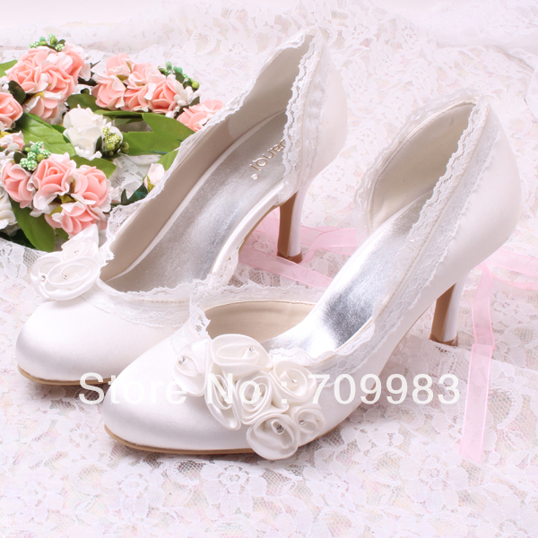 Custom Handmade New Arrived Flower Princess Wedding Dress Shoes White High  Heels for Ladies Drop Shipping-in Women s Pumps from Shoes on  Aliexpress.com ... a0bd41814111