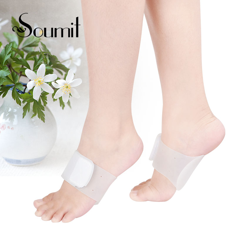 Soumit Silicone Gel High Arch Support Massage Bandage Orthopedic insole Correction Flat Feet Relief foot Fasciitis Plantillas настенный светильник loft it loft1906w