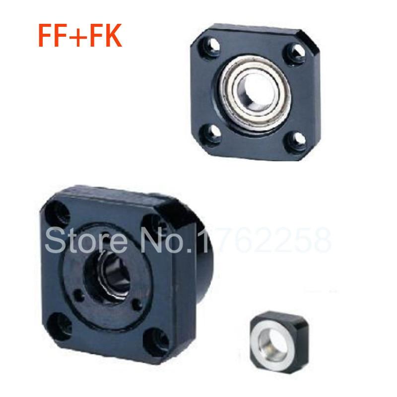 1 pcs FK25 côté fixe + 1 pièces FF25 vis à billes latérale flottante CNC pièces vis à billes fk/ff25 support d'extrémité