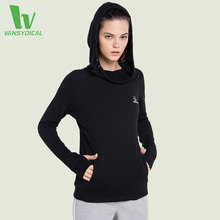 Фотография VANSYDICAL 2016 New Fitness Women Jacket Yoga Sport Hooded Coat For Female Sportswear Gym Running Workout Clothes Size M-XXL
