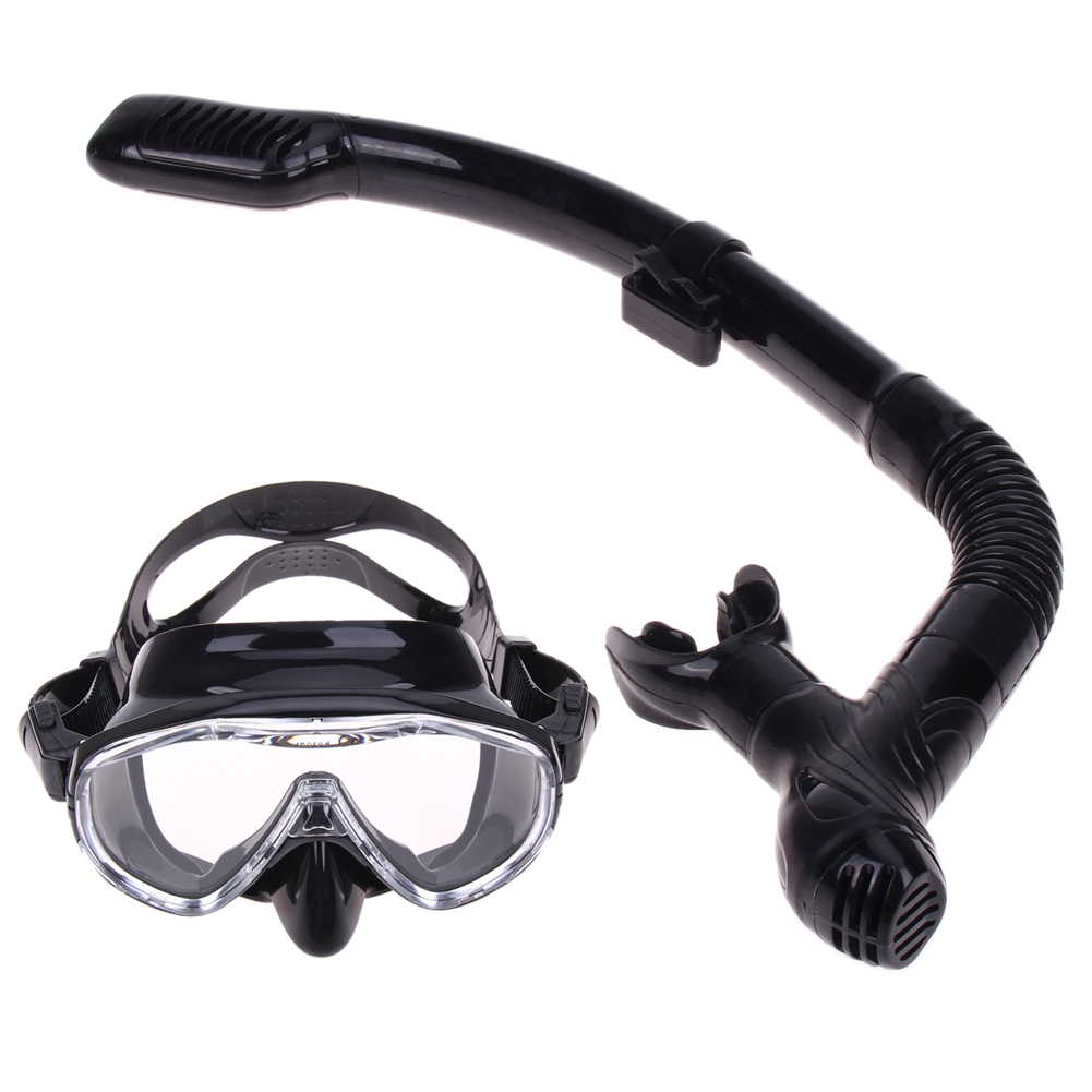 Professional Silicone Diving Mask Snorkel Anti-Fog Goggles Glasses Set Swimming Equipment Snorkel Breathing Tube Set