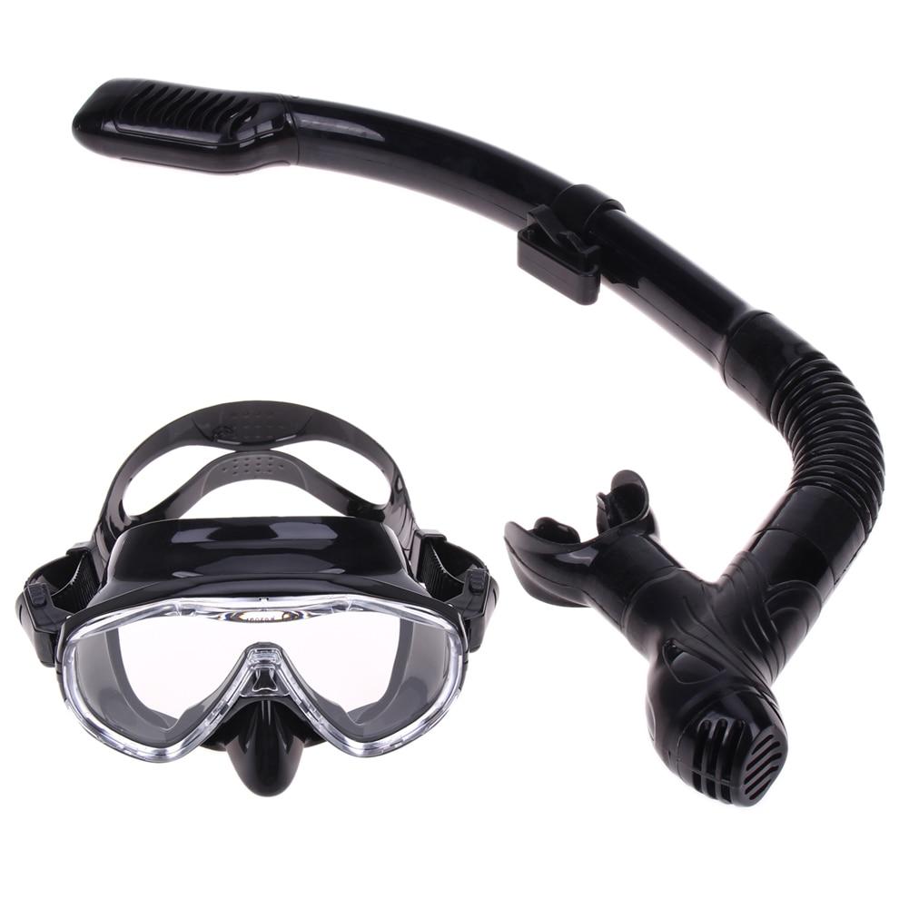 Профессиональные силиконовая маска для дайвинга трубка Анти-туман очки комплект для плавания трубка дыхательная трубка трубки ...