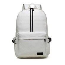 Noir en cuir hommes sac à dos beige garçons urbain étudiant étanche quotidienne à dos adolescent école sac à dos ordinateur portable mochila XA297YL
