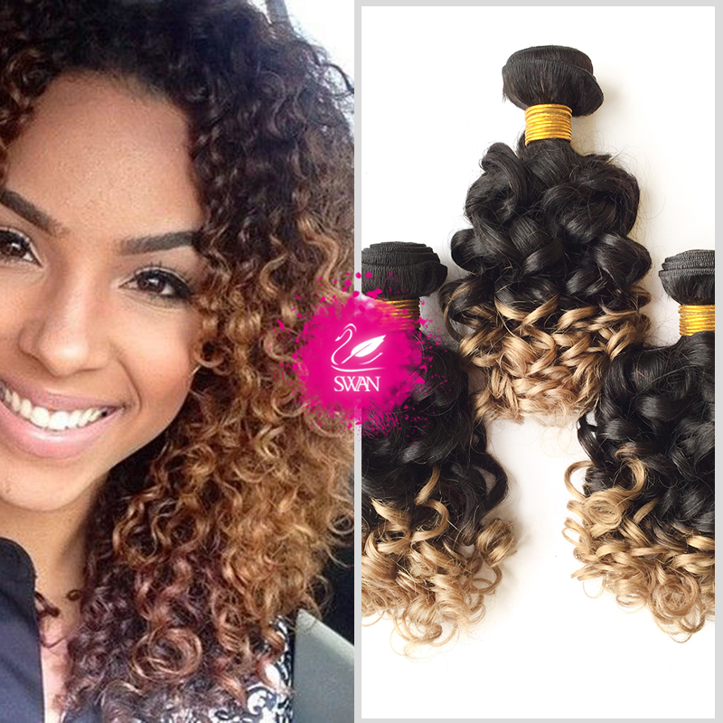 Malaysian Virgin Hair Ombre Weave 9a Malaysian Spiral Curl Weave 4