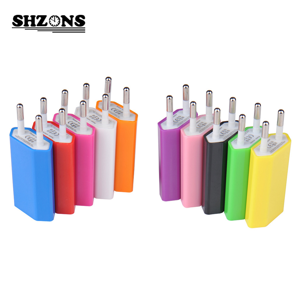 Candy EU Plug USB Wall Charger Travel Home Wall AC Charger Adapter for iPhone 5s 6s 7 for Samsung S6 S7 Mobile Phone Charger