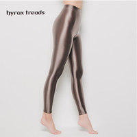 DROZENO Smooth pants for sexy women LEOHEX Satin GLOSSY OPAQUE Party Shiny Pants Stockings Pantyhose Shiny Wet look Tights Panty