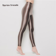 DROZENO Smooth pants for sexy women LEOHEX Satin GLOSSY OPAQUE Party Shiny Pants Stockings Pantyhose Shiny Wet look Tights Panty(China)