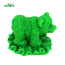 3D Silicone Mold Soap Candle Making Mould Handmade Craft Bear Shape Nicole LZ0121