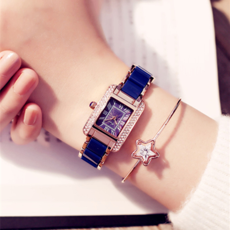 2018 Real New Kimio Luxury Jewelry Ladies Quartz Watches Dress Fashion Casual Women Watches Roman Numerals Rhinestone Bracelets