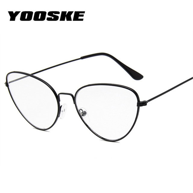 YOOSKE Vintage Cat Eye Glasses Frame Women Clear Lens Eyeglasses ...