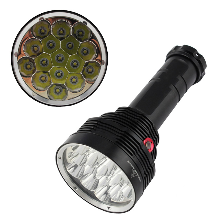 Super Power 20000 Lumen 4 Mode 16x XML-T6 LED Flashlight Strong Torch Lamp Tactical Hunting FlashLight light 6x 18650 Bttery 9 cree xml t6 led 20000 lumen 18650 26650 outdoor waterproof floodlight flashlight torch lantern camping light lamp hunting